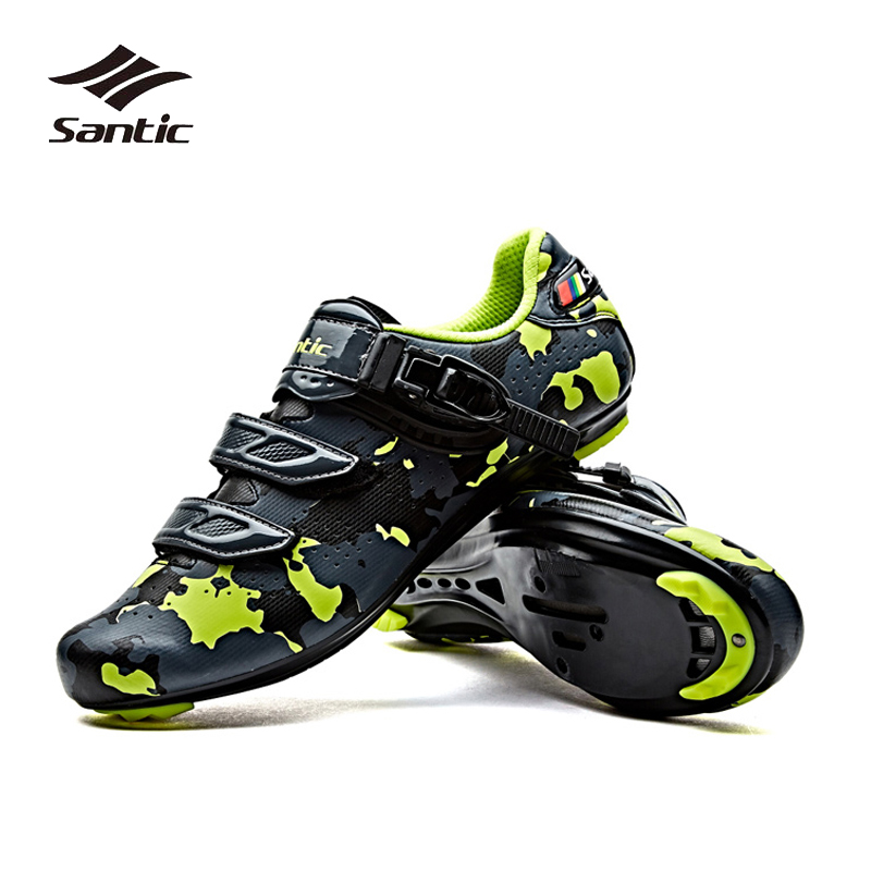 Santic Cycling Shoes Men Pro Team Road Bike Shoes Breathable Bicycle Shoes Self-locking Bicicleta Ciclismo Riding Sneakers santic men pro cycling shoes road bicycle shoes breathable