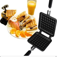 2018 Hot Household Non-stick Cast Aluminum Waffle Mold Baking Biscuit Mold Gas Cake Baking Pan Waffle Machine DIY Baking Tools free shipping gas type 4 pcs lolly hot dot plate waffle grill hot dog stick lolly waffle iron