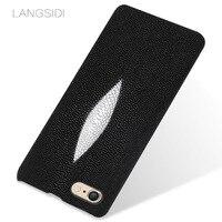 LANGSIDI brand mobile phone case pearl fish half a pack of mobile phone case For iPhone 6 phone case custom processing