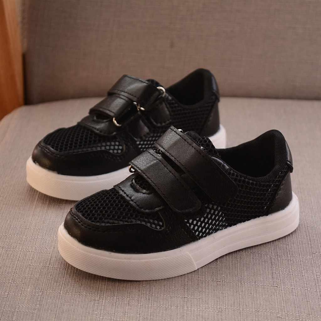 MUQGEW 2019 Yeni Moda Yaz Çocuk Bebek Kız Erkek Rahat Kanca & Döngü spor ayakkabılar Örgü Nefes Run Spor rahat ayakkabılar 24