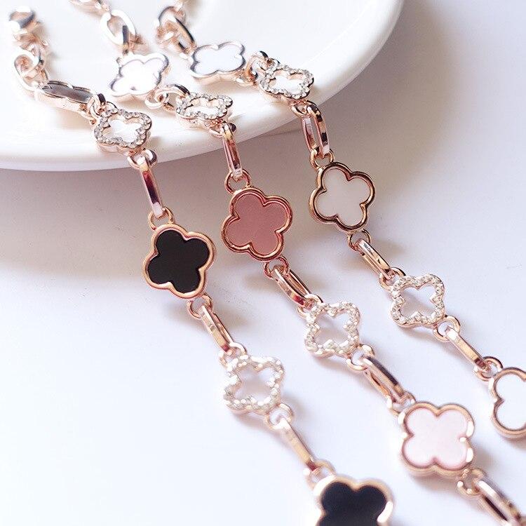 2016 new fashion friendship Four Leaf Clover bracelets jewelry wholesale shackles Cross bracelets & bangles For women Lucky Gift friendship bracelets