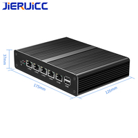 Quad Core J1900 Industrial 4 LAN Mini PC Router Server with Black Case VGA Display Port 1*com support 7*24hours working