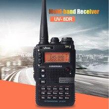 UV-8DR Три Tri Band 136-174/240-260/400-520 мГц Walkie Talkie любительское радио 128 канал Мульти-Band Двусторонней Радиосвязи