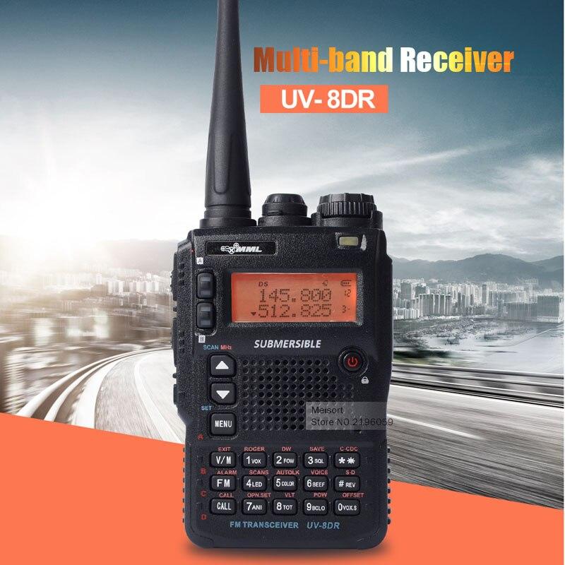 imágenes para UV-8DR Tres Tri Banda 136-174/240-260/400-520 mhz radioafición Walkie Talkie 128 canales de Múltiples banda de Radio de Dos Vías