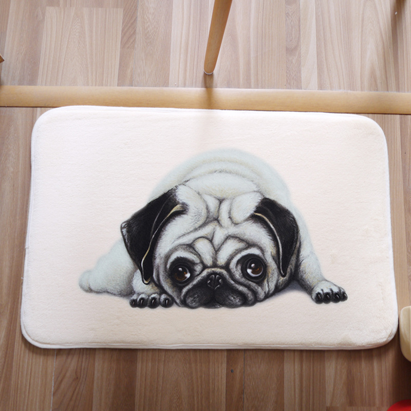 Carpet For Living Room Bedroom Pug 40x60cm Rectangle Rugs