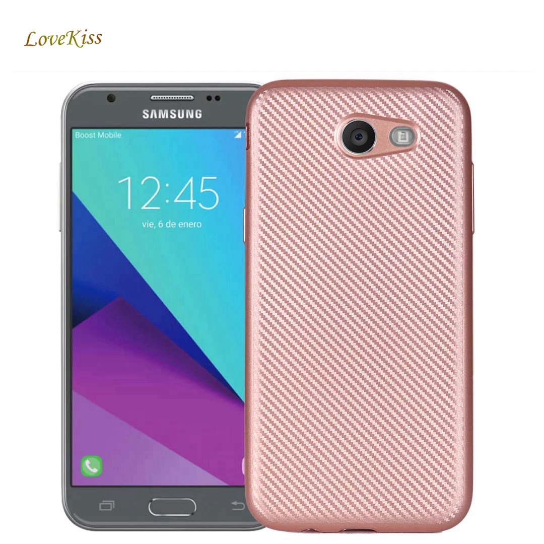 For Samsung Galaxy A5 A3 A7 J1 J3 J5 J7 2017 2016 J2 J5 J7 Prime S8 A310 G570F G532 Carbon Fiber Soft Case Silicone Cover Hoesje