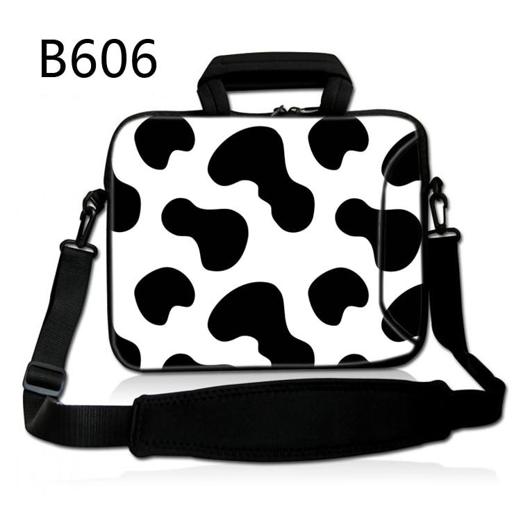 Cow Stripes 13 14 15 17 15.6 Inch Computer Laptop Bag Soft Notebook Tablet Bags Case Messenger Shoulder Unisex Men Women Durable