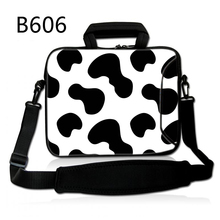 Cow Stripes 13 14 15 17 15.6 Inch Pc Laptop computer Bag Gentle Pocket book Pill Baggage Case Messenger Shoulder Unisex Males Girls Sturdy