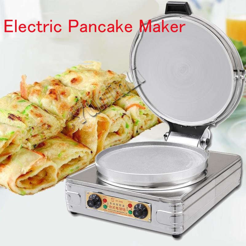 Electric Pancake Maker Round Pancake Skillet Commerical/Household Pancake Cooker Double-sided Pancake Heater DY-20Electric Pancake Maker Round Pancake Skillet Commerical/Household Pancake Cooker Double-sided Pancake Heater DY-20