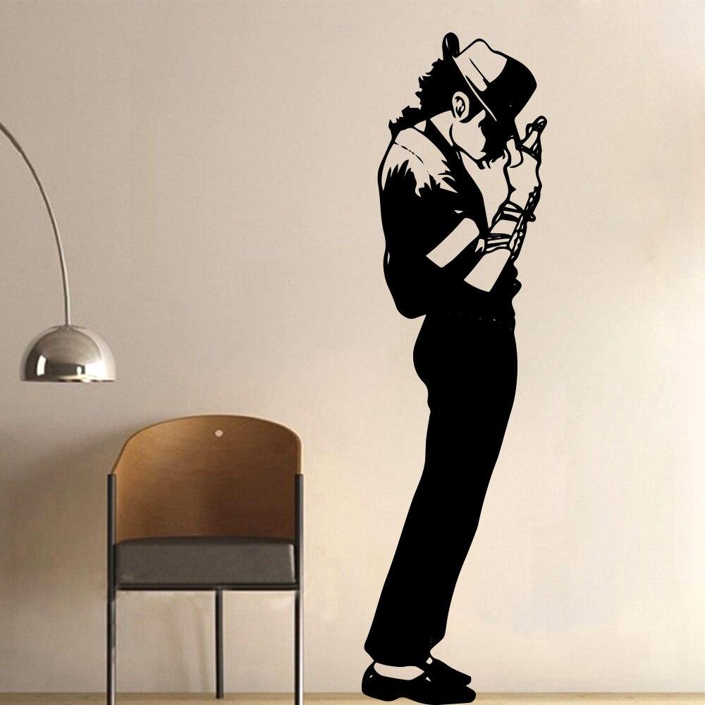 Nouveauté Superstar Michael Jackson Sticker Mural décoration de chambre décor pour salon décor amovible décor Mural