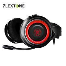 PLEXTONE G600 GameDAC gaming headphones with microphone casque Stereo Wired PC Gamer Headset USB Headphones for computer laptop xiberia brand gaming headphones nubwo n2u wired usb headset gamer with microphone volume control led for computer laptop fone