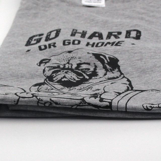cotton casual pug life mens t shirts top quality fashion short sleeve men tshirt men's tee shirts tops men T-shirt 2017 T01