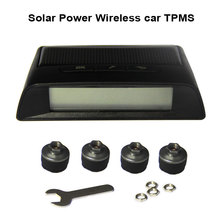 Photo voltaic Energy Wi-fi automobile TPMS tire strain monitor system with Four exterior cap sensors 433.92Mzh