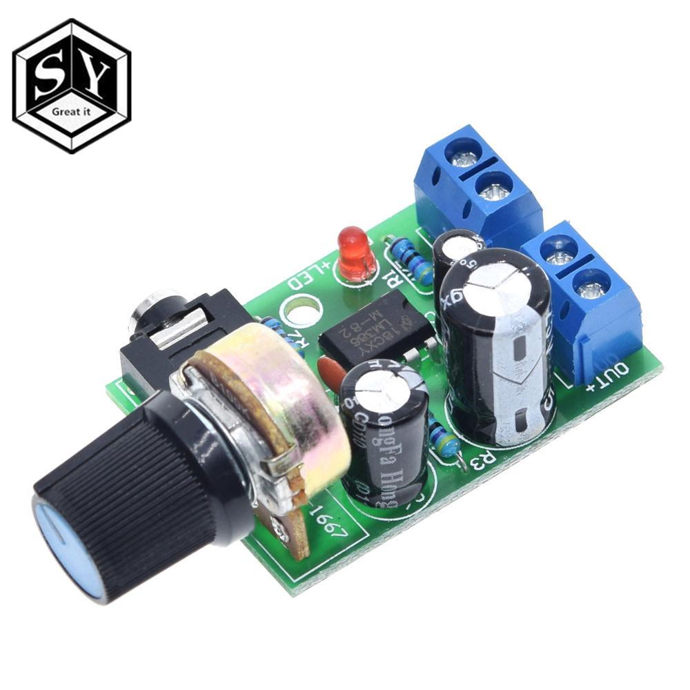 1 STUKS Graet HET Nieuwe Collectie LM386 Audio Eindversterker Board DC 3V ~ 12V 5v Mini AMP Module Verstelbare volume