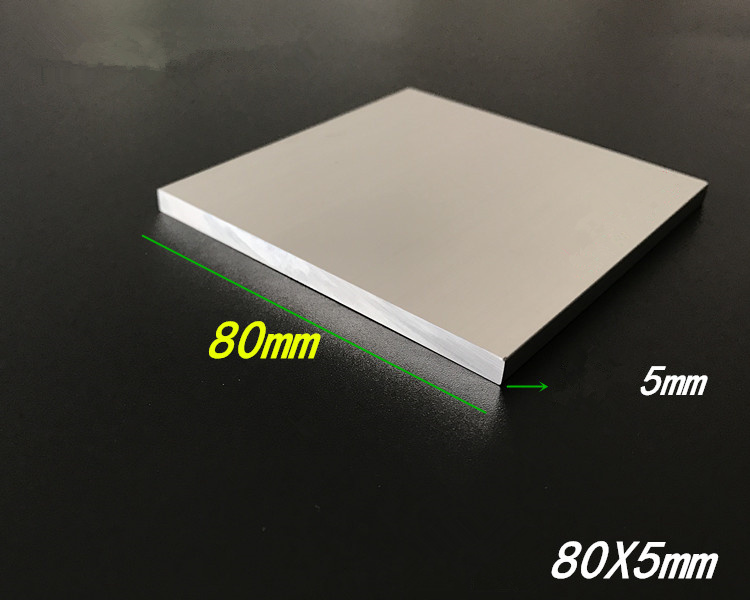 Aluminium alloy plate 5mmx80mm article aluminum 6063-T5 oxidation width 80mm thickness 5mm length 200mm 1pcs wholesale 504260 3 7v lithium polymer battery length 60 width 42 thickness 5mm