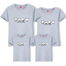 c26f2d3a New summer tops for mother daughter father son family look t shirts cute  panda print short