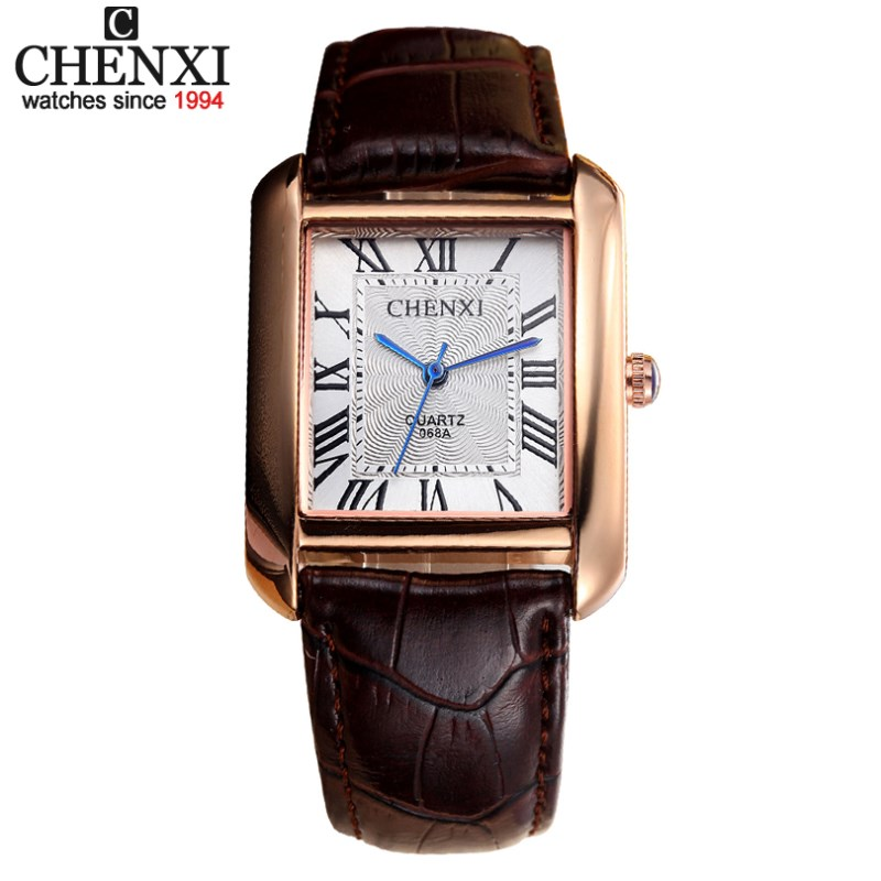CHENXI Top Brand Man Watches Leather Watchbands Rectangle Dial Casual Quartz Watch Men Clock Male Gifts Sports Wristwatches new chenxi brand dial male clock hours hand date black leather straps mens quartz wrist watch 3atm waterproof wristwatches man