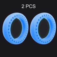 2pcs ניאון צמיג חלת דבש גומי מוצק זוהר צמיג ללא פנימית בצור עבור Xiaomi Mijia M365 חשמלי קטנוע הלם בולם