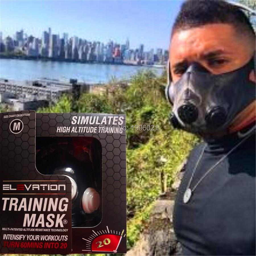 Newest Elevation Training Mask 2.0 -(All Sizes-S.M.L) High Altitude Mask For Boxing MMA Running Breathing 2.0 Training Mask newest pt training sport mask sliver model for mma sport gym training of mask 2 0