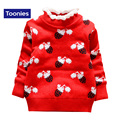 Hot Sale 2016 Autumn Kawaii Sweater for Girls Cute Cartoon Knitted Pullover Turtleneck Children's Sweaters Fashion Clothing Kids