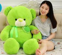 large 100cm lovely silk belt teddy bear plush toy doll bear throw pillow toy birthday gift h2816