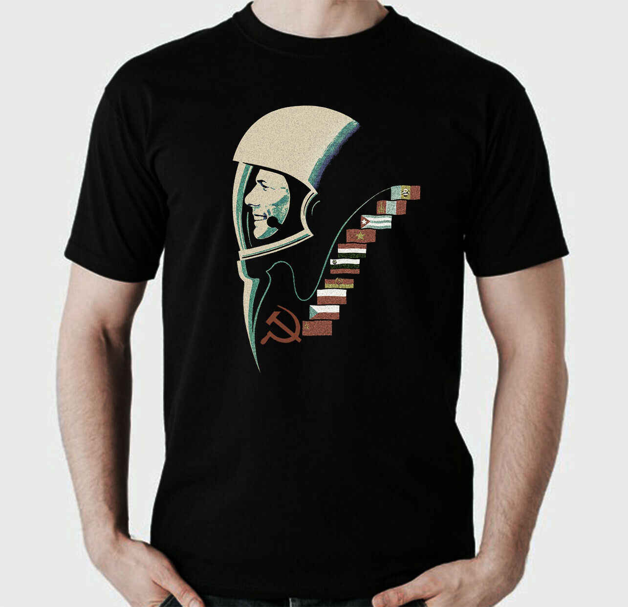Fun RosKosmos CCCP cosmonauta travi shirt URSS Russia Culto Est Retro DDR