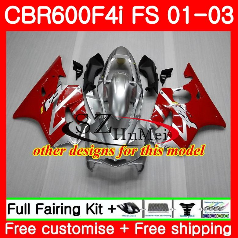 Корпус для HONDA CBR 600 F4i CBR 600F4i CBR600FS 600 FS горячая Распродажа blk 48SH19 CBR600 F4i 01 02 03 CBR600F4i 2001 2002 2003 обтекатели - 3