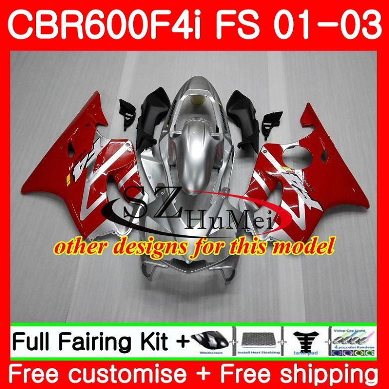 Cuerpo para HONDA CBR 600 F4i CBR 600F4i CBR600FS 600 FS Venta caliente blk 48SH19 CBR600 F4i 01 02 03 CBR600F4i 2001, 2002 de 2003 carenados - 3