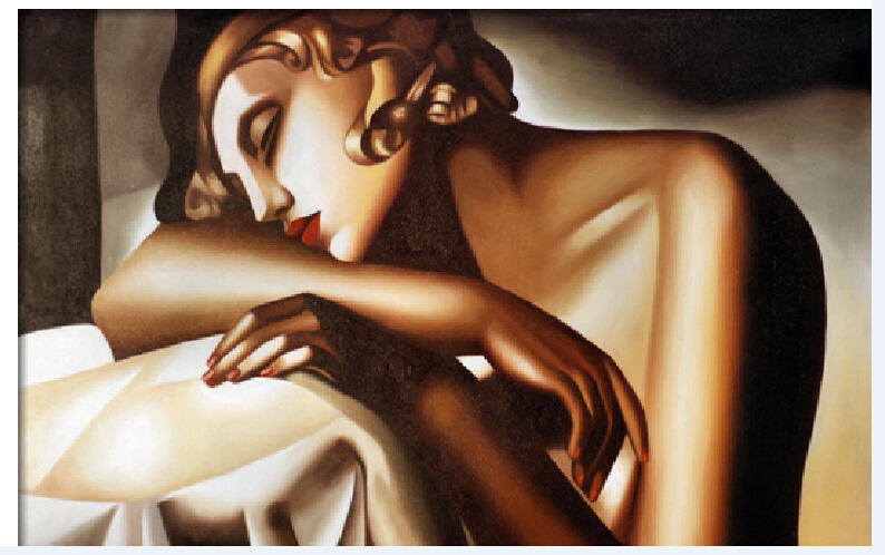 Us 87 1 33 Off 100 Hand Painted Oil Free Shipping Three Dimensional Painting Beautiful Girl Naked Women Characters Body Painting On The Canvas In