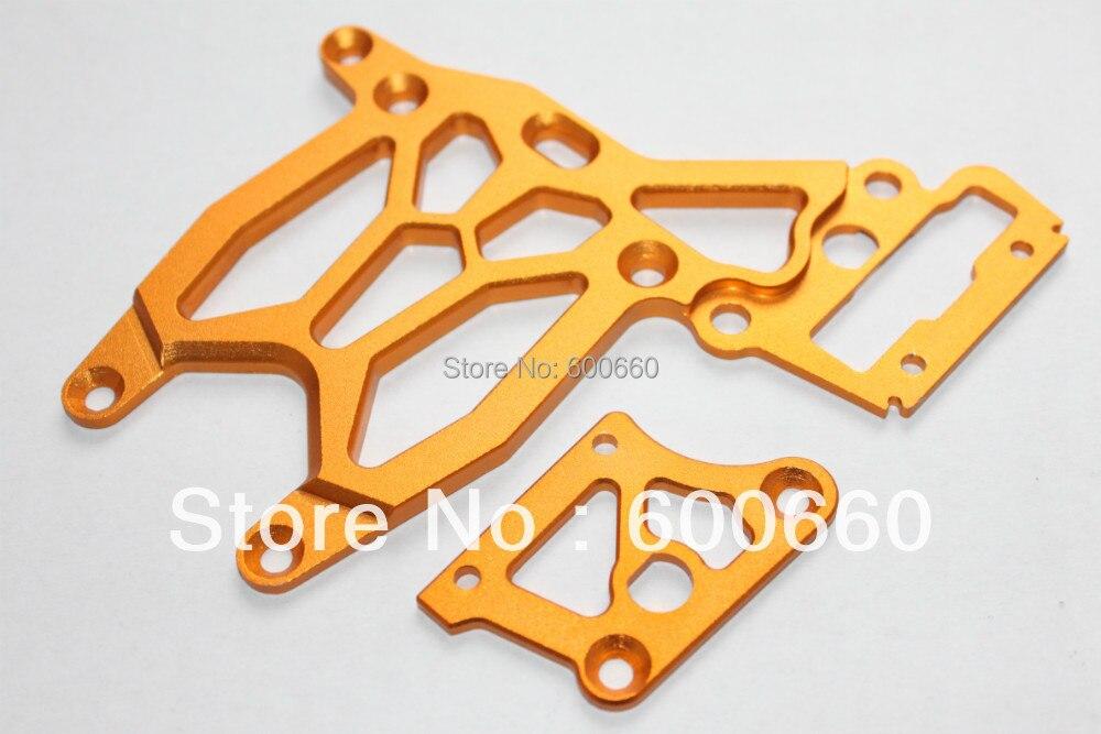 HD alliage arrière plaque supérieure baja 5b ruban et orange couleur choisir HPI Baja 5B Pièces Rovan Livraison Gratuite