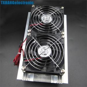 Image 5 - Thermoelectric Peltier Refrigeration Cooling System Kit Cooler Double Fan DIY