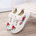 Spring Flower Girls Shoes Fashion Children's Shoes Flower Embroidery Increased Children Shoes Rivet Leather Shoes For Girls Size