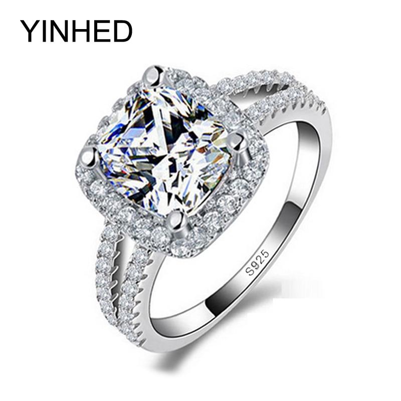 yinhed 2 bands wedding rings for women 4 carat cz - 2 Carat Wedding Ring