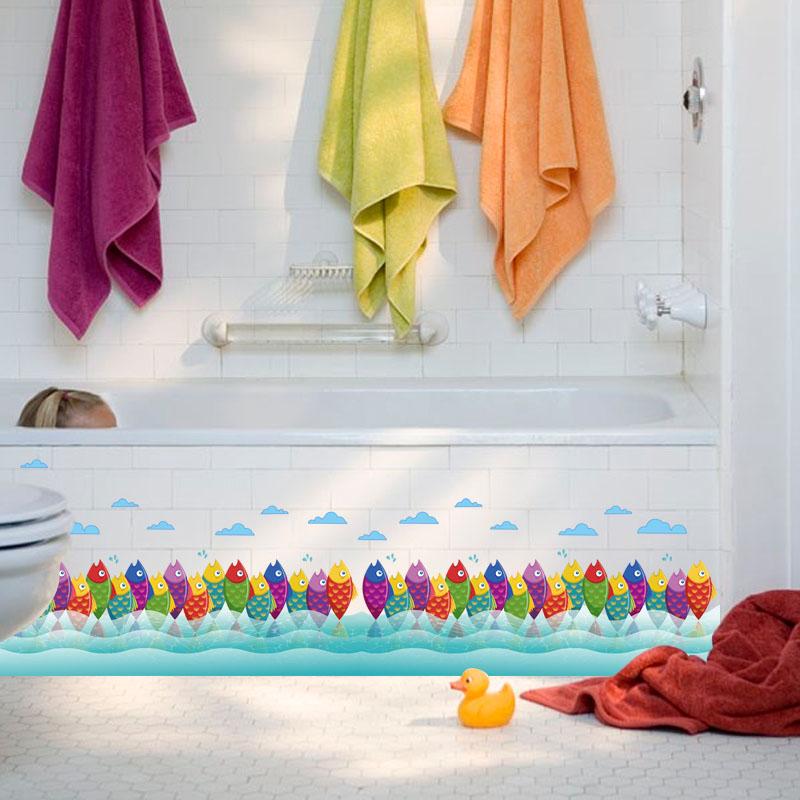 Fundecor Bunten Marine Fisch Wandaufkleber Fr Kinderzimmer Kinder Schlafzimmer Badezimmer Fliesen Kunst Aufkleber Dekoration