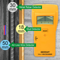 All Sun Wood Stud Finder Electronic Sensor Wood Stud Metal Detector AC Electrical Scanner 3 In