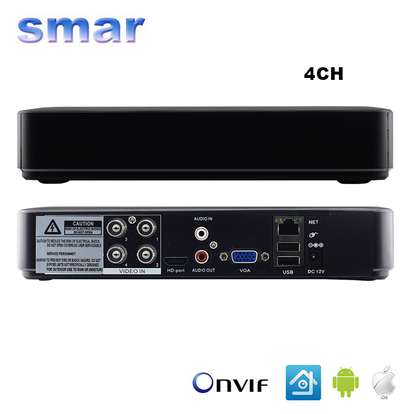 ФОТО Smar Mini Hybrid 4CH 8CH AHDNH 1080N AHD DVR 5 IN 1 AHD CVI TVI CVBS 1080P Security DVR NVR For AHDM AHD Camera 5MP IP Camera