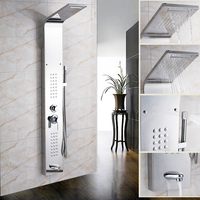 Wholesale And Retail Bathroom Shower Panel Chrome Finish Multiple Functions Column