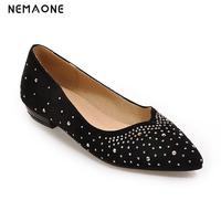 New Flat Shoes Women 2017 New Spring Shoes Casual And Comfortable Flat Shoes Rhinestone Rest Shoes