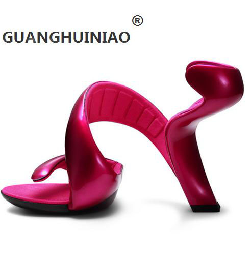 ФОТО Valentine's Day Gift Unique Design Special Shaped Nongrounded High Heel Shoes Star Fashion High Heeled Sandals Wedding Shoes