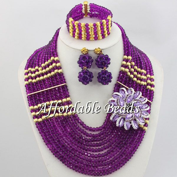 Purple Big Jewelry Sets Best Selling Indian Jewelry Set Wedding Hot