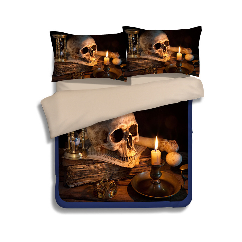 3D skeleton series bedding set Twin/ Full/Queen Size 3pcs/4pcs Bed Linen Bed Sheets Duvet Cover Set Stylish, comfortable life