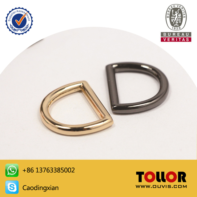 High Quality 3 4 Gold Cast Zinc D Ring For Bag Silver Metal