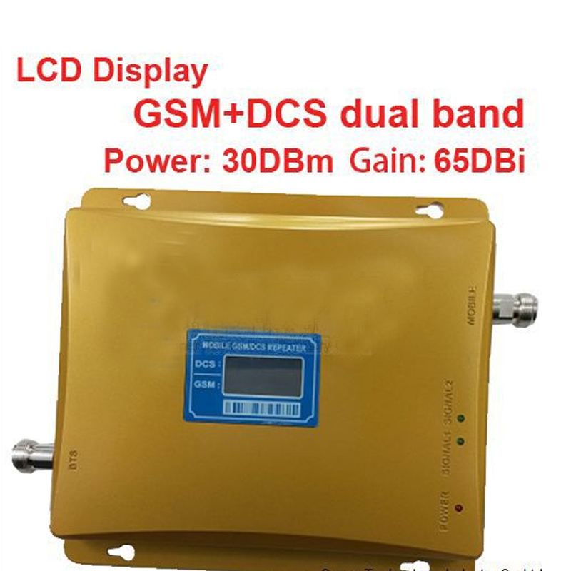 2014 New Model 980 Power 30 Dbm Gain 65dbi LCD Display Dual Bands GSM DCS Booster Repeater DCS Dual Bands Booster Repeater