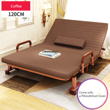 120cm Wide RollAway Metal Folding Bed W/Mattress Bedroom Furniture Rollaway Guest Queen Bed for Guest Day/Night Bed Frame Steel