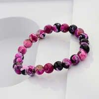 DOUVEI 8mm véritable coloré naturel Tourmaline pierre bracelets pour femme Yoga charme extensible ronde perle Bracelet en gros