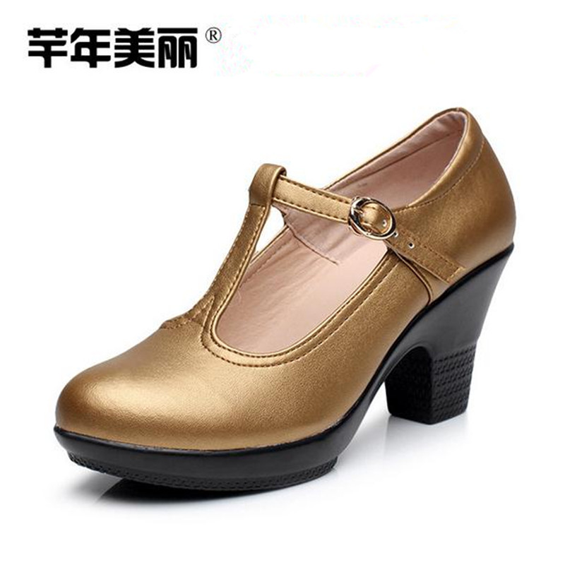 Large size high heels Women Shoes New waterproof platform Crude heel Mary Jane shoes Work shoes Female Tacones Mujer pumps obuv 2017 new spring female flat heels martin shoes bullock shoes female thick bottom loafers large size women shoes obuv ayakkab