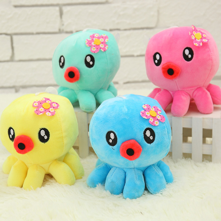 18cm Lovely Catoon Multicolor Octopus Doll Mini Plush Toy Stuffed