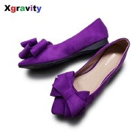 Plus Size Comfort Girl S Bowtie Designer Flat Shoes Point Toe Woman Shoes Spring Korean Candy