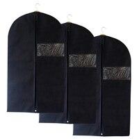 HIPSTEEN Storage Hanging Bags 3PCS Lot Coat Storage Bags Nonwovens Clothes Dust Cover Suit Dress Garment