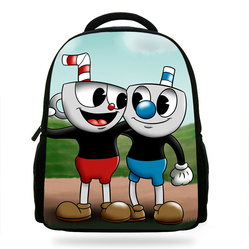 New Cartoon Cuphead Mugman Book Girls Bags For Children Don t Deal with the  Devil Backpack For Kids School Boys Girls-in School Bags from Luggage   Bags  on ... ffbcab2d0b9ac